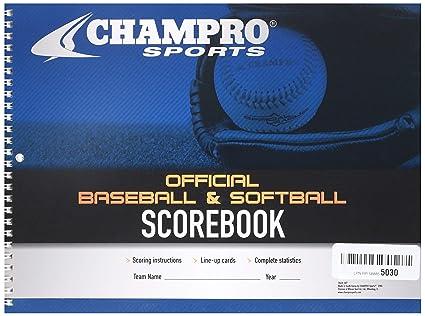 27ff1daa0463e CHAMPRO Baseball/Softball Scorebook