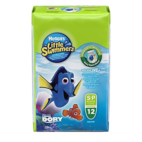 HUGGIES Pañales Little Swimmers Talla 3/4 (7 a 15 kg) - Paquete