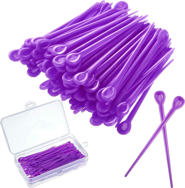 180 piezas cepillo rodillo recoger rodillo de plástico rodillo recogida rodillo rodillo rodillo rodillo pin para rizar pelo accesorios de peinado para Navidad regalo de San Valentín (púrpura)