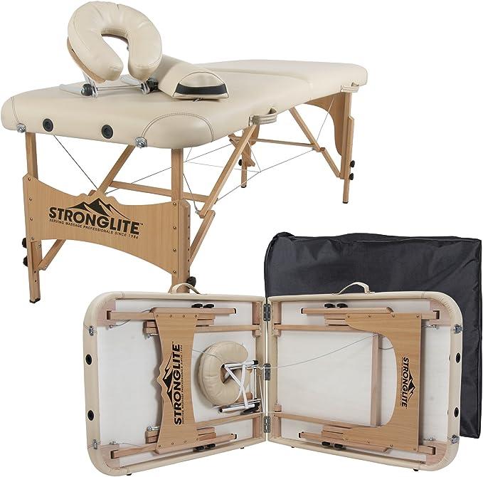 Table de soin tout-en-un avec repose-t/ête STRONGLITE Kit Table de Massage Olympia Coussin Traversin et Sac de Transport