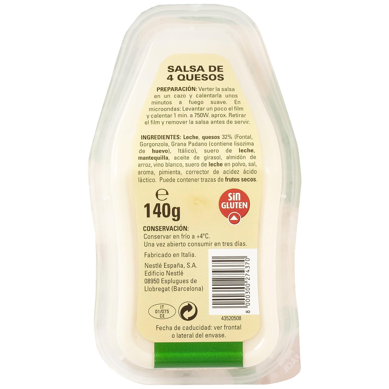 Buitoni - Salsa 4 Formaggi (Cuatro Quesos), 140 g: Amazon.es: Alimentación y bebidas
