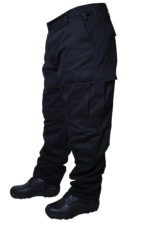 Army Cargo BDU, pantaloni stile ranger, stile militare, colore nero