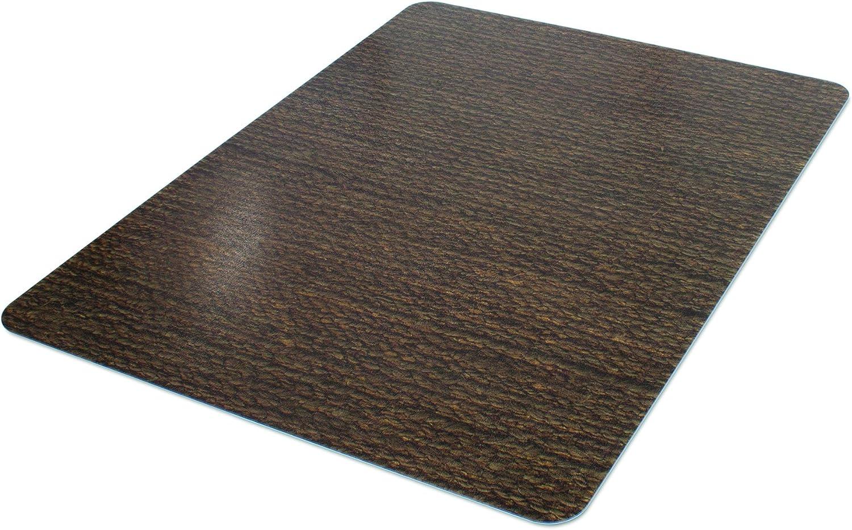 Deflecto RollaMat Decorative Chair Mat, Medium Pile Carpet Use, Rectangle, Straight Edge, 46 x 60 Inches, Chenille Jute Print CM15442FHCJ