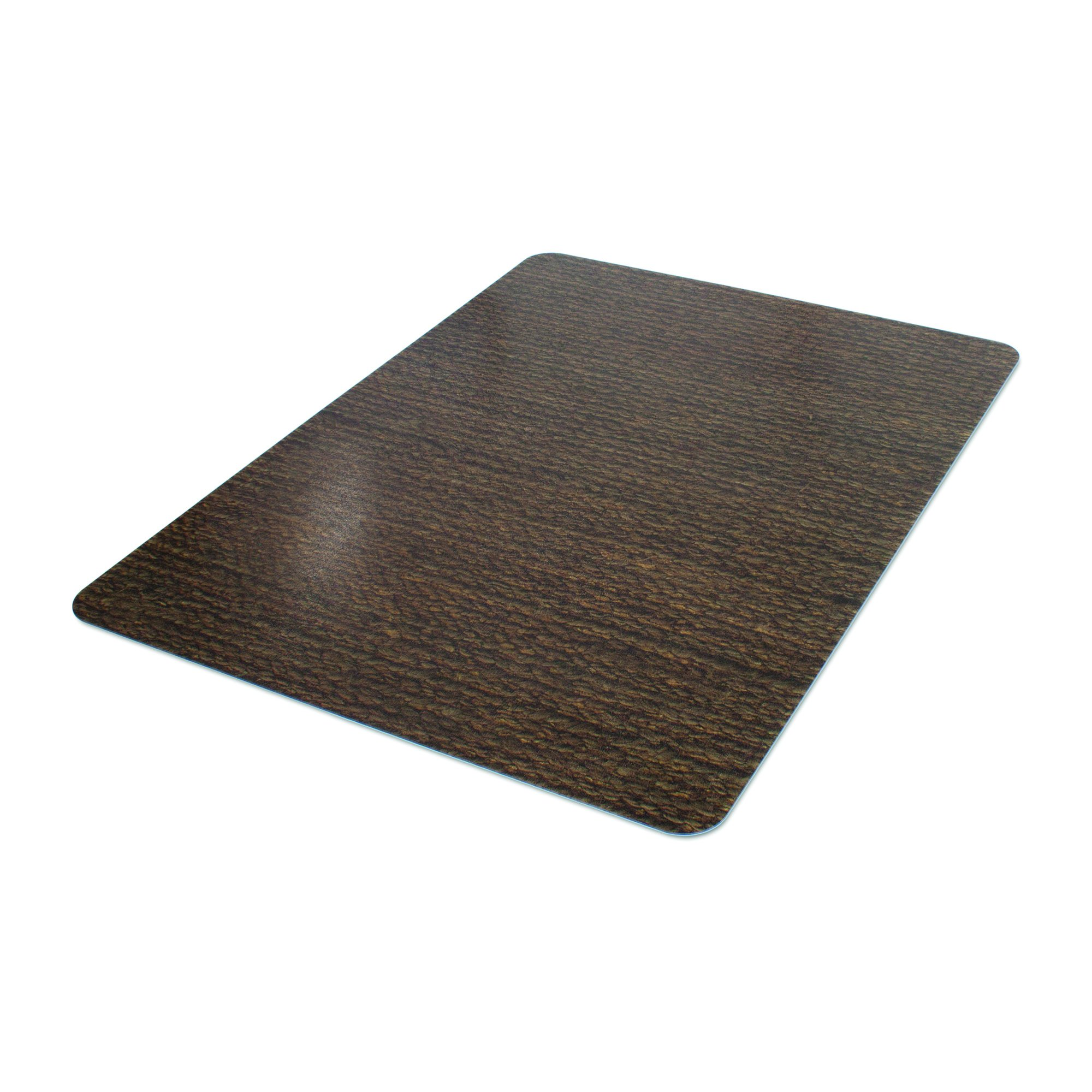 Deflecto DuraMat Decorative Chair Mat, Hard Floor Use, Rectangle, Straight Edge, 36 x 48 Inches, Chenille Jute Print (CM23142HCJ)