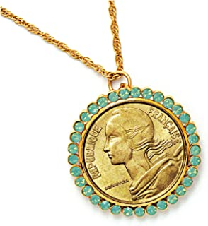 product image for French Coin Pendant with Opal-Pacific Crystals