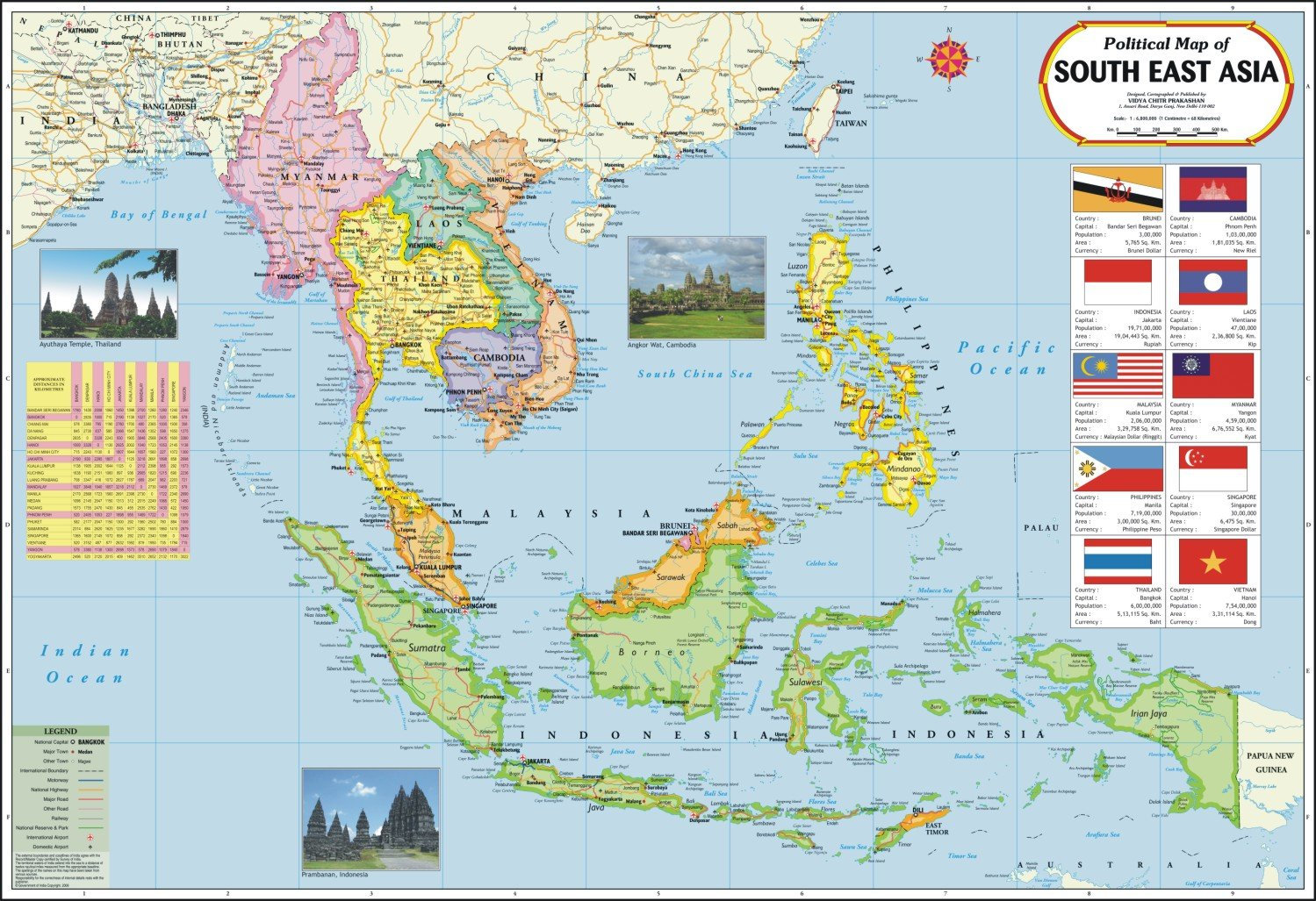 Buy South East Asia Map (Thailand, Philippines, Cambodia, Myanmar ...