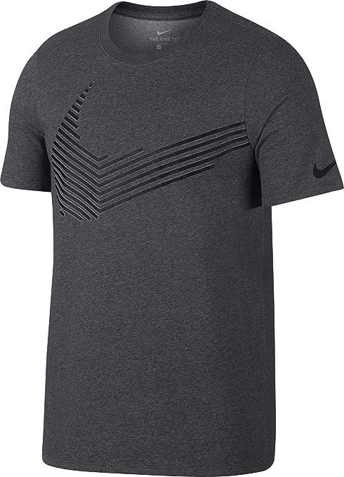 b3752e9034609 Amazon.com : NIKE Men's Dry Linear Swoosh Graphic T-Shirt : Sports ...