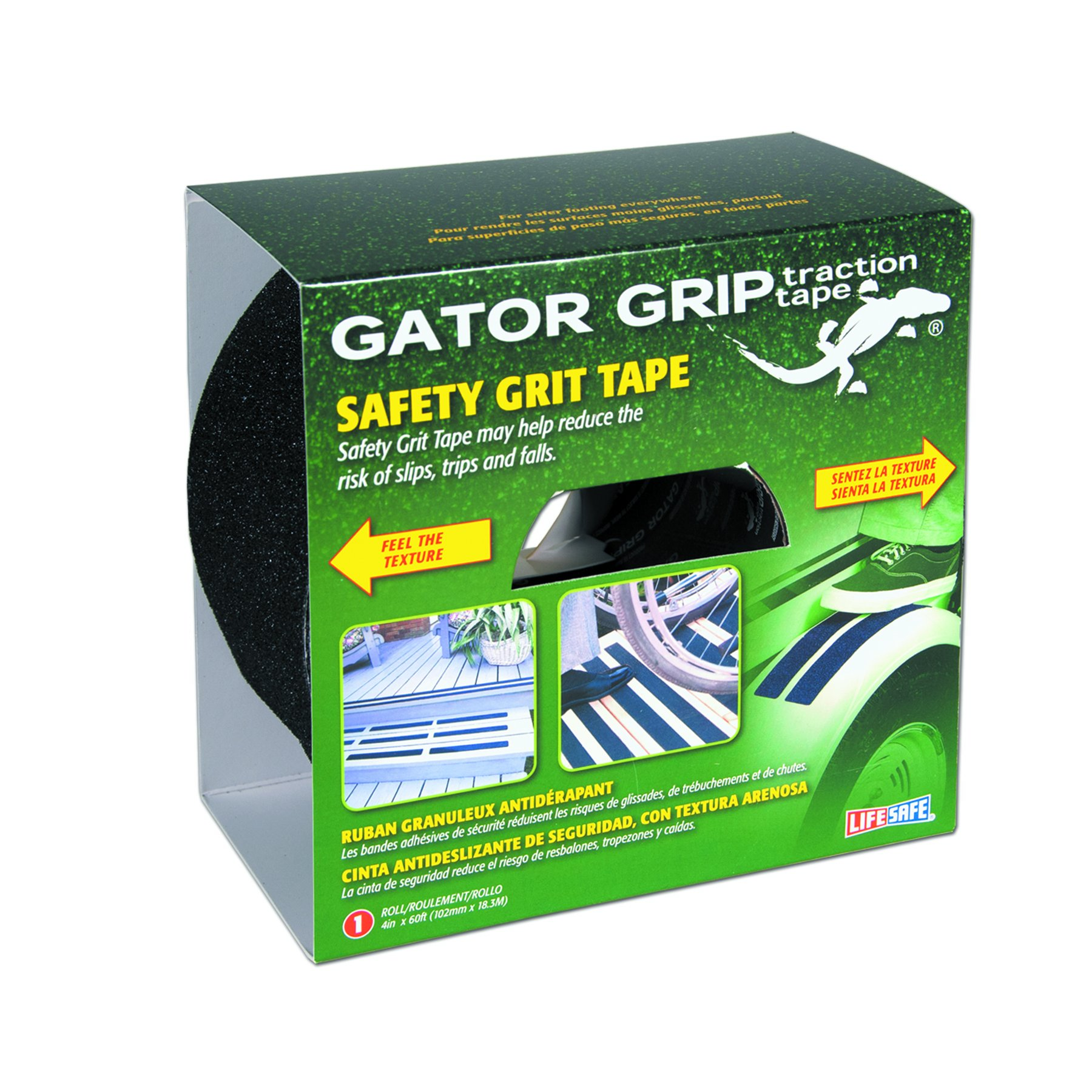 Gator Grip: Anti-Slip Tape, 4'' x 60', Black by Gator Grip