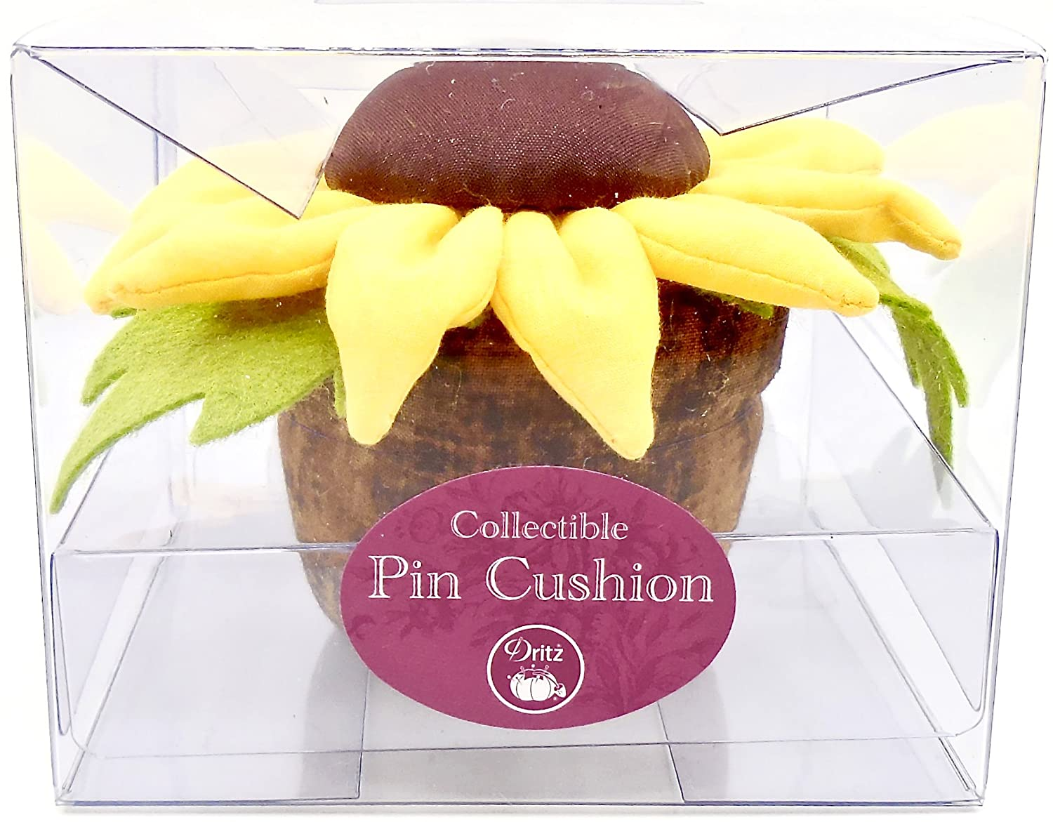 Jo-ann's Dritz Pincushion, Collectible Cushions (Yellow Sunflower in Pot) Prym USA