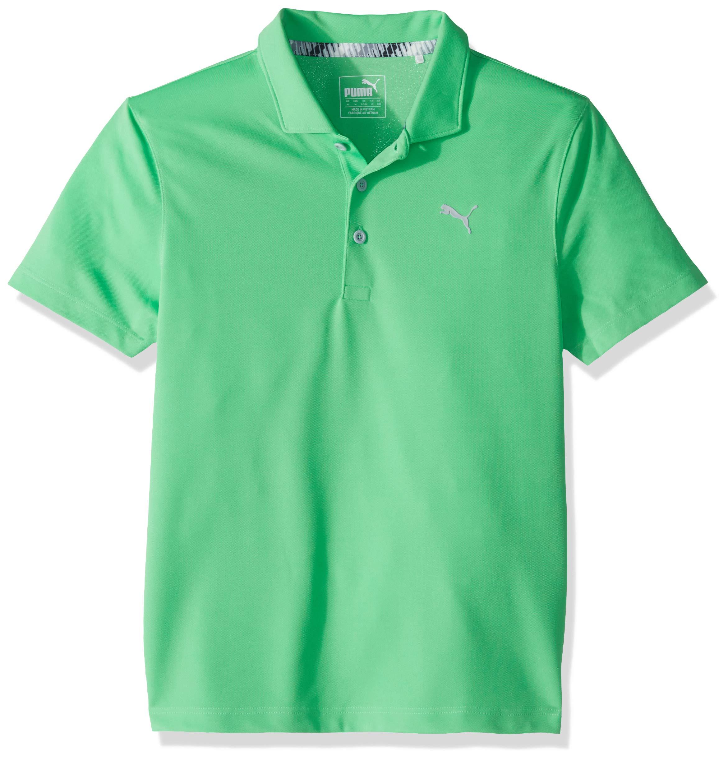 Puma Golf Boys 2019 Polo, Irish Green, x Small by PUMA