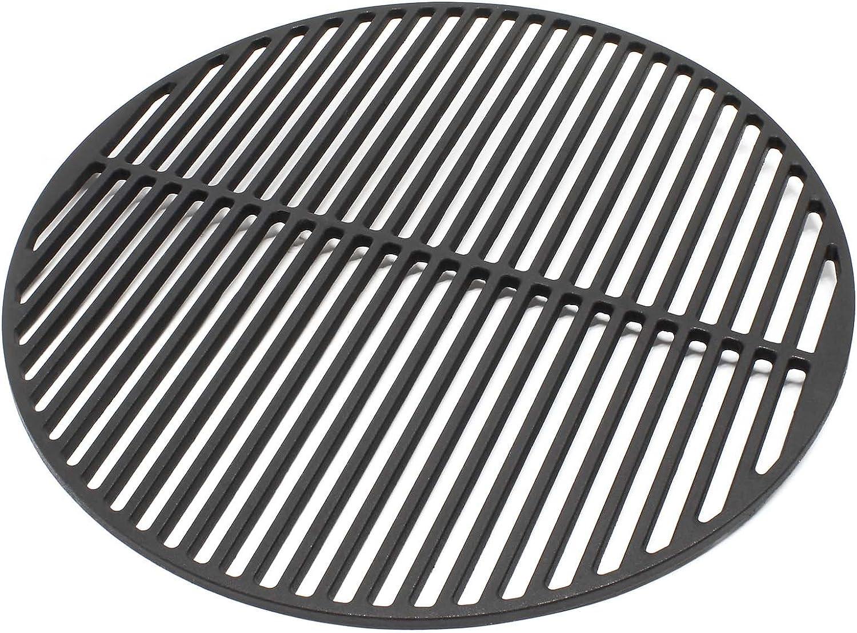 WilTec Rejilla Grill Parrilla Redonda Hierro Fundido 45 cm asado Barbacoa Fuego brasas Gas leña carbón