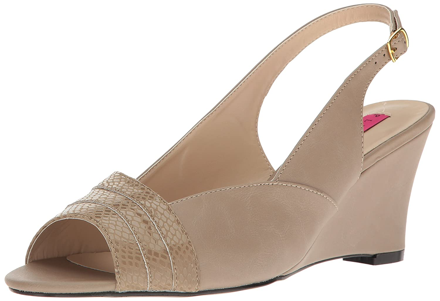 Pleaser Women's Kim01sp/Tppu Wedge Sandal B06XH3S7K5 16 B(M) US|Taupe Faux Leather