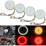 4PCS LED Turn Signal Light Kit for Harley 1157 Base Front Rear 2 Inch Turn Signal Lights Replacement, Compatible with…
