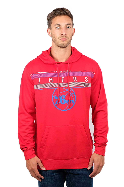 (Philadelphia 76ers, X-Large) - UNK NBA Men's Fleece Hoodie Pullover Sweatshirt Poly Midtown, Team Colour   B01LYCTIS2