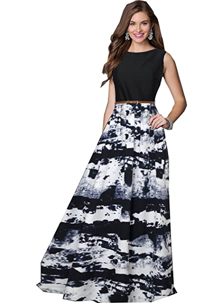 e4fba6e2c6fd Royal Export Women s A-Line Maxi Dress (G27 BluDhaba L Blue Large)  Amazon. in  Clothing   Accessories