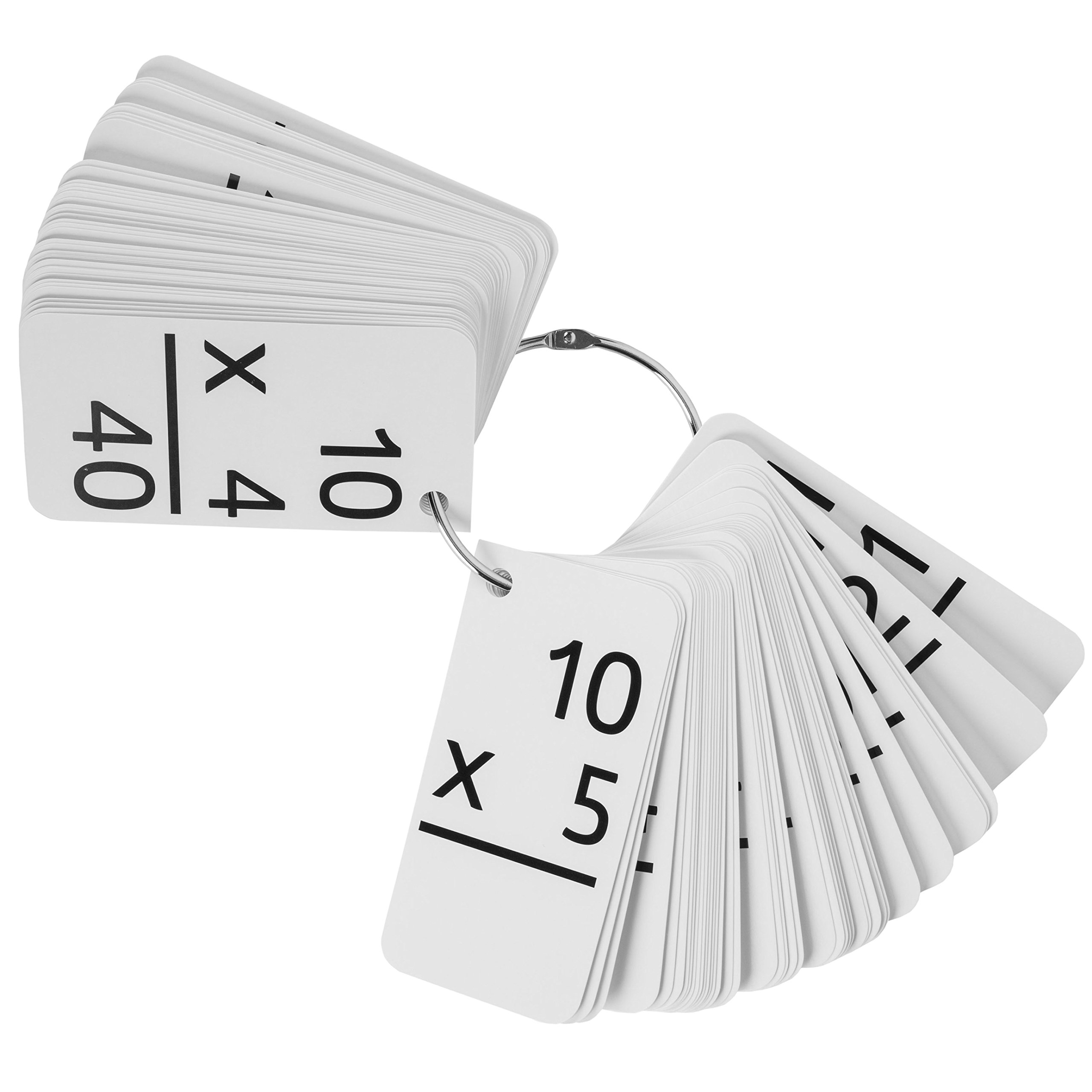 Star Education Multiplication Flash Cards, 0-12 (All Facts-169 Cards) With 2 Rings by Star Right (Image #4)