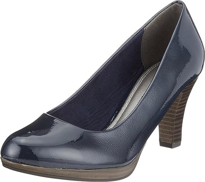 377f303345 MARCO TOZZI Women's 22409 Closed Toe Heels, Blue (Navy Patent 826), ...