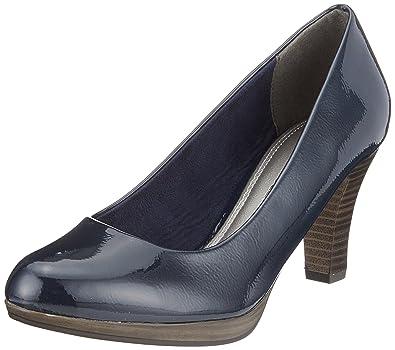22409, Escarpins Femme, Bleu (Navy Patent), 37 EUMarco Tozzi