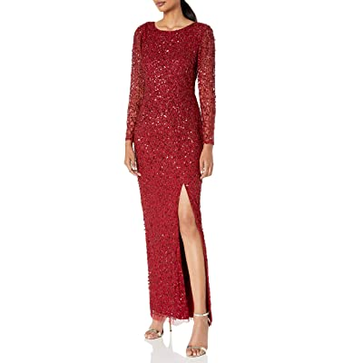 Adrianna Papell Women's Beaded Covered Column Gown at Amazon Women's Clothing store