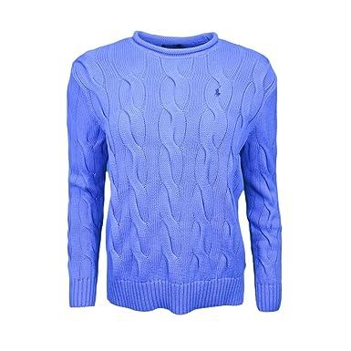 Ralph Lauren Pull col Rond roulotté torsadé Bleu pour Femme  Amazon.fr   Vêtements et accessoires 5313a7d00ad