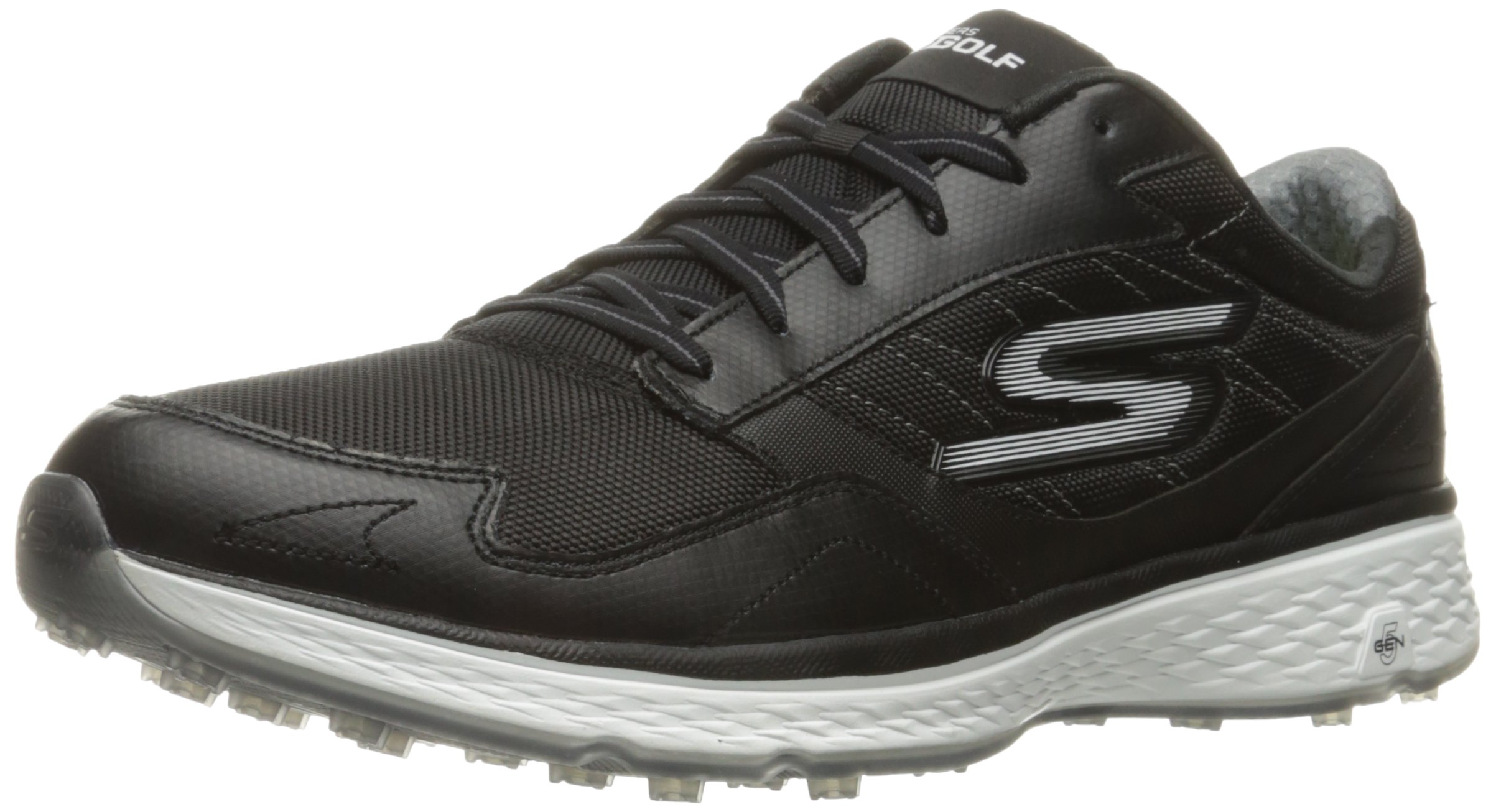 Skechers Golf Men's Go Golf Fairway Golf Shoe, Black/White, 10.5 M US by Skechers