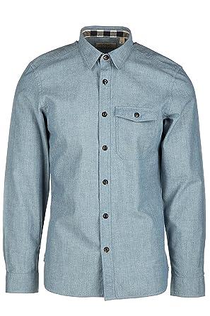 d7843d6ee096 Burberry chemise à manches longues homme friston blu EU XL (UK 42) 4034053