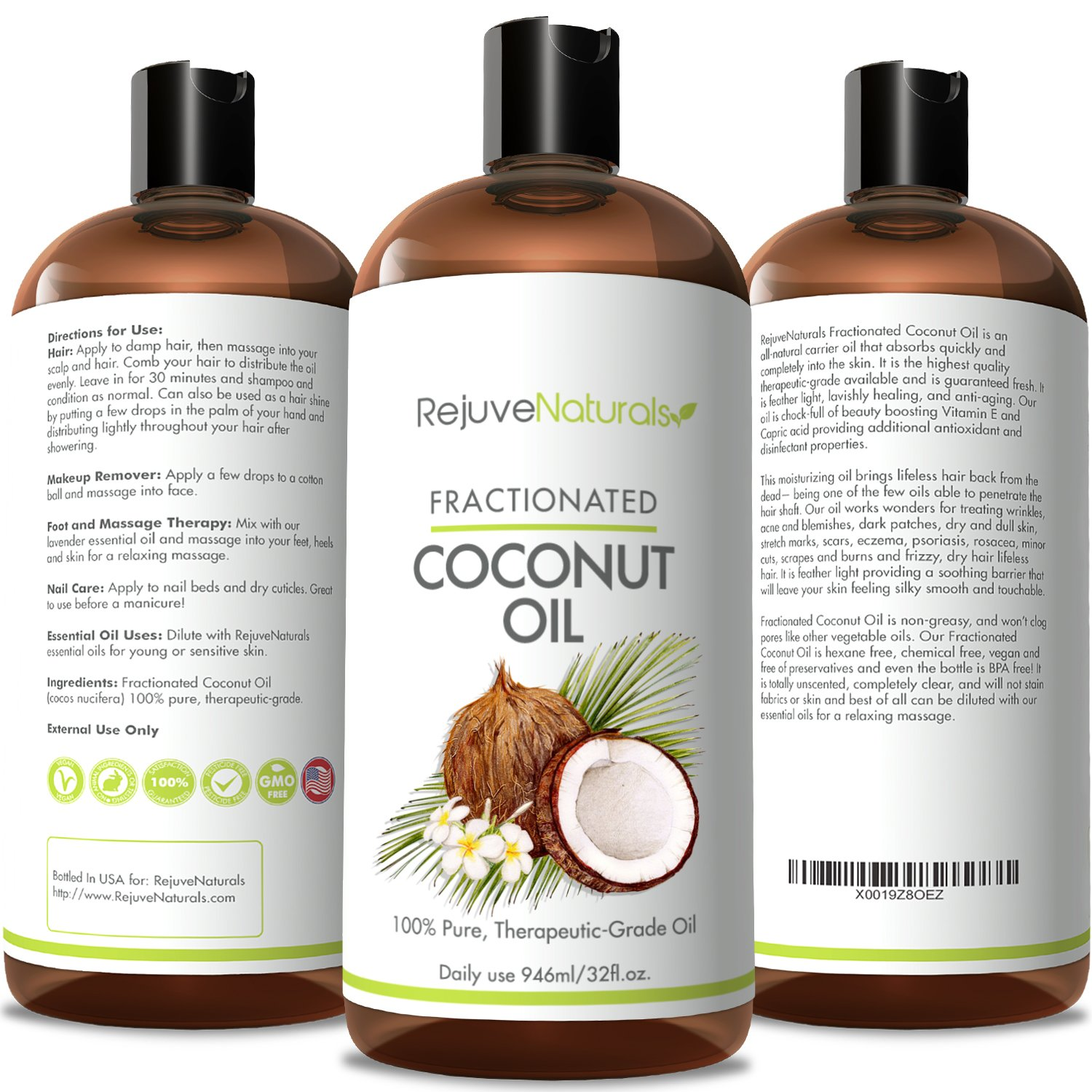 Amazoncom   Pure Therapeutic Grade Fractionated Coconut Oil - How to use coconut oil on hair