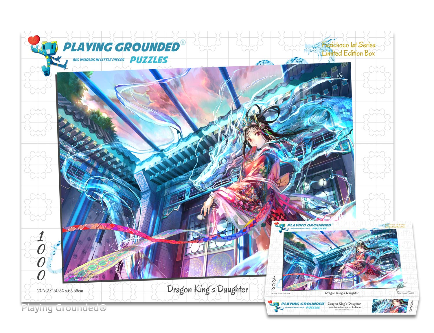 Playing Grounded Limited Edition Jigsaw Puzzle 1000 Pieces Dragon King's Daughter by Fuzichoco Anime Collectible Anime Puzzle Dragon Puzzle Fantasy Puzzle Japanese Jigsaw Puzzle by Playing Grounded