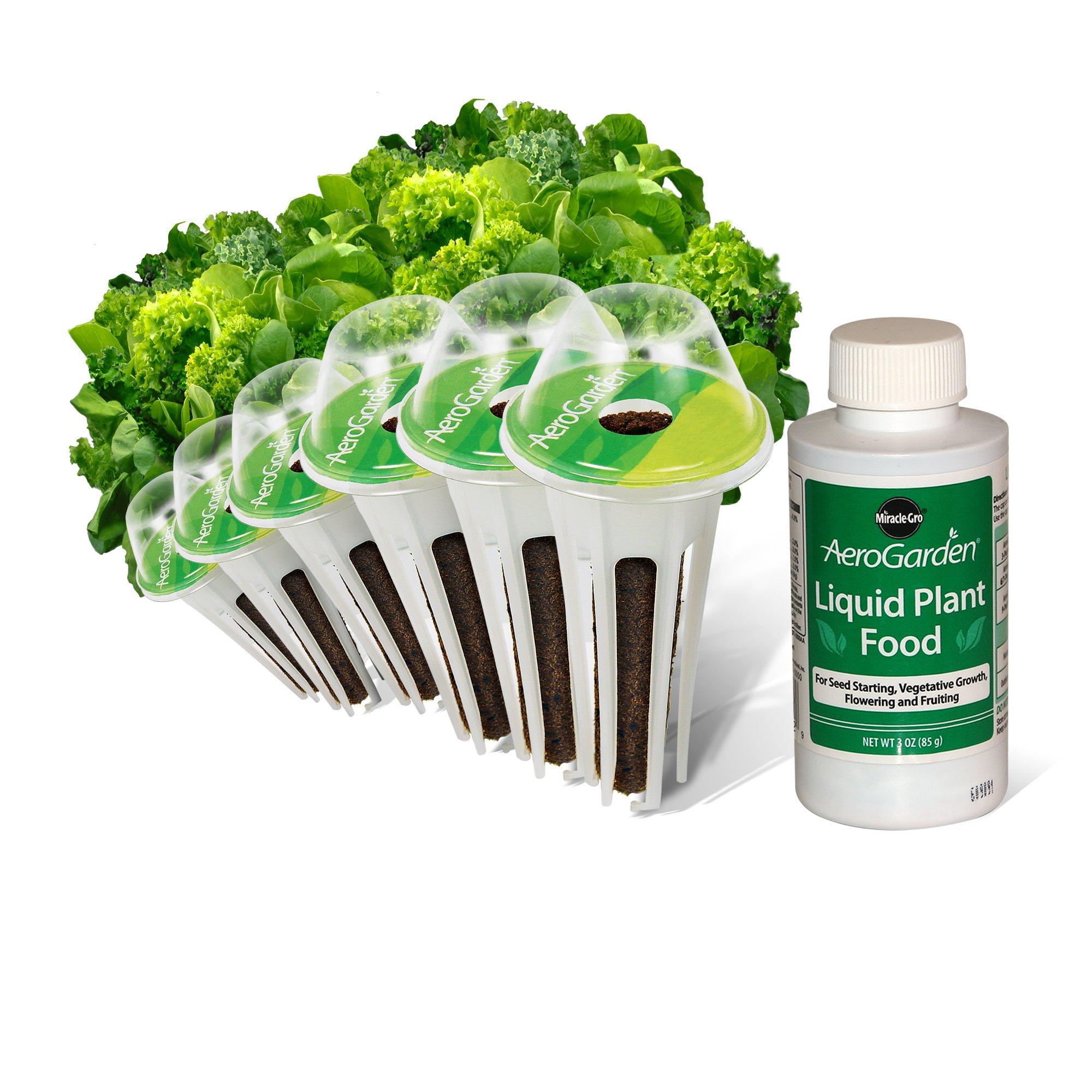 AeroGarden Heirloom Salad Greens Seed Kit (6 pod) by AeroGarden