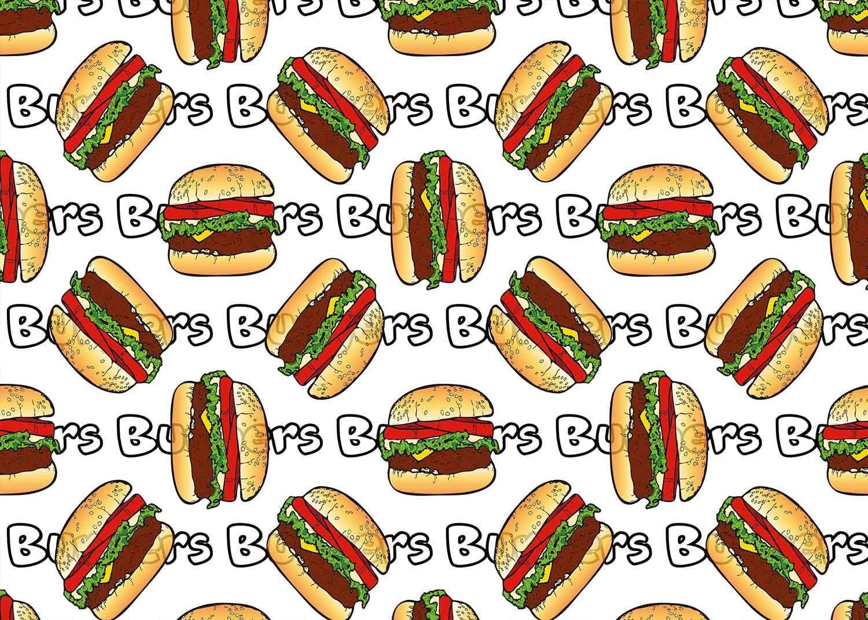 FUERMOR Hamburger Background 7x5ft Snack Bar Burger Photography Background Photo Studio Props BJZYFU51