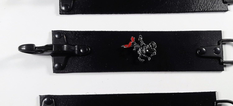 Vest Extender /• Kutten Erweiterung /• Leder /• Karabiner Haken /• Clasp Skull mit Knochen