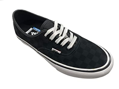 1832f0798348 Image Unavailable. Image not available for. Color  Vans Authentic Pro  Checkerboard Black Asphalt Suede ...