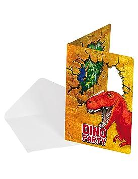 Invitaciones de cumpleaños con diseño de dinosaurios: Amazon ...