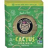 Tia Lupita Cactus Corn Tortillas   3 Packs x 10 Tortillas per Pack - Low Carb, High Fiber, Low Calorie (30 Calories Each), Ke