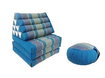 Colchón de meditación tailandés de fibra Kapok de 3 pliegues