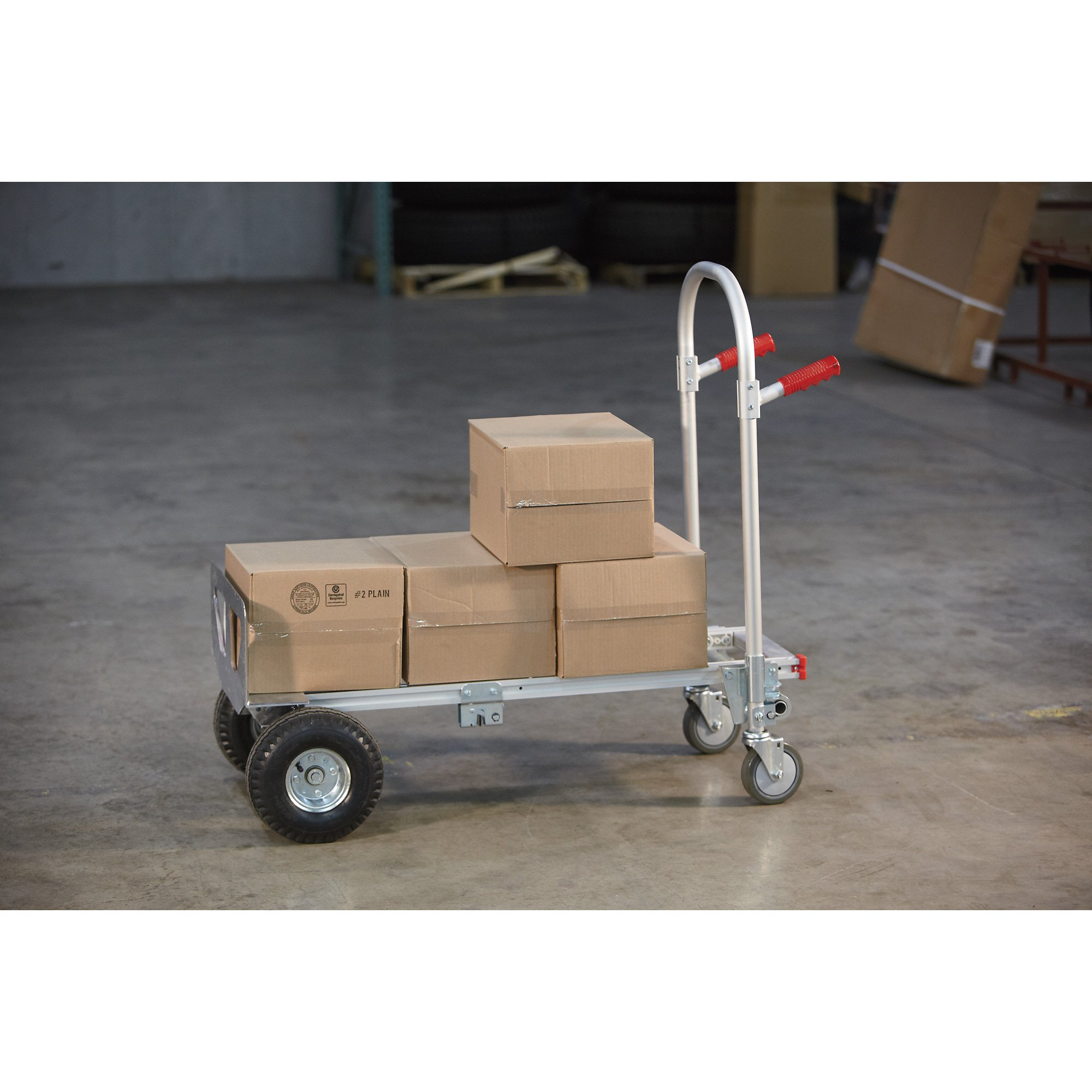 Northern Industrial Tools 2-in-1 Hand Truck - Aluminum, 770-lb. Capacity, Model# HS-7A by Northern Industrial