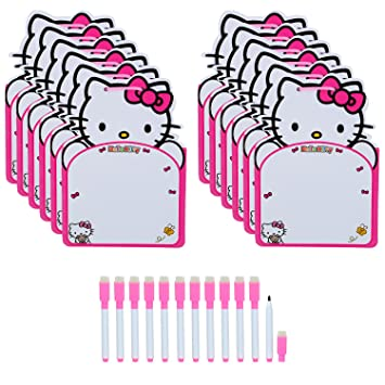 Asera 24 Sets Of Pink Hello Kitty 2 In 1 Board Writing And