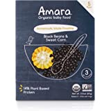 Amara Baby Food, Bean & Sweet Corn, Plant Based Protein, Baby & Infant Food, Organic Fruits and Veggies for Baby and Toddler