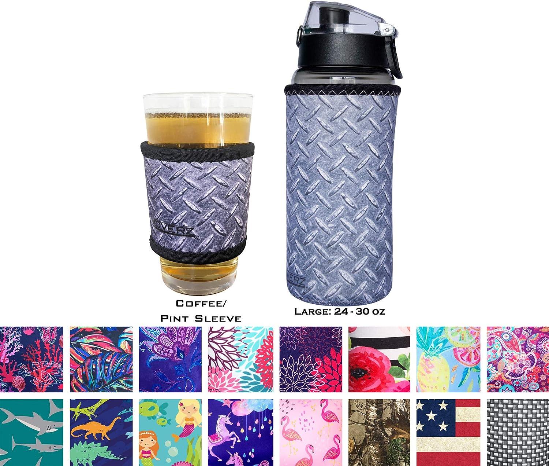 Koverz Neoprene 24-30 oz Water Bottle Insulator Cooler Coolie American Flag