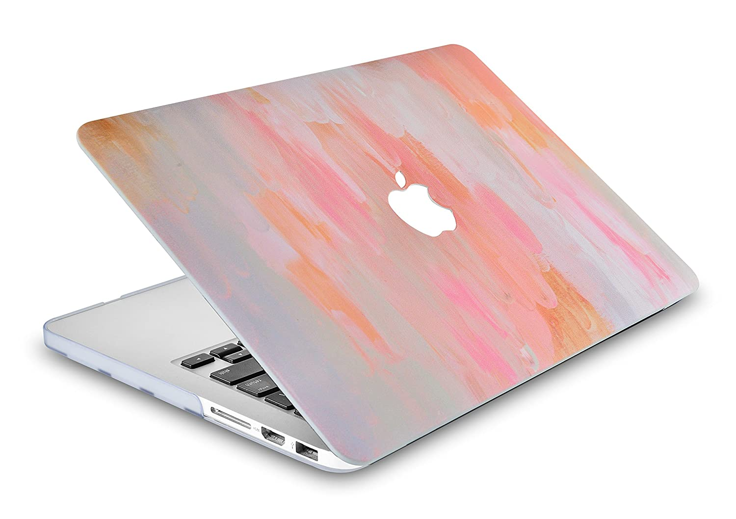 LuvCase Rubberized Plastic Hard Shell Case Cover Compatible MacBook Air 13 Inch 2019/2018 New Version A1932 with Retina Display (Touch ID) (Mist 13)