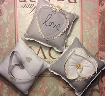 Amazon.com: Gisela Graham – Pequeño Shabby Chic boda anillo ...