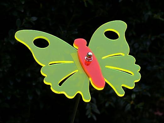 Lisa Decoración Jardín Conector zweifarbiger mariposa amarillo – 23 cm Con 100 cm Metal Varilla – Sol atrapasueños/sunc atcher: Amazon.es: Jardín