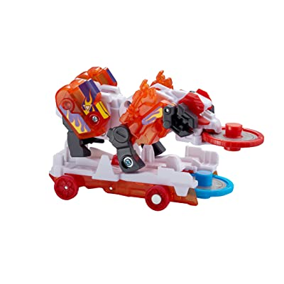 "Screechers Wild US683141 Level 3 - Storm Horn Flipping Morphing Toy Car Vehicle, 3"" x 2"", Red: Toys & Games"