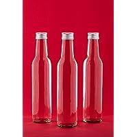 slkfactory Bottiglie di vetro vuote da 250ml, con tappo a vite, 6, 12, 24, 30o 40pezzi, bottiglie da riempire, adatte per succo, liquore, acquavite, aceto, olio