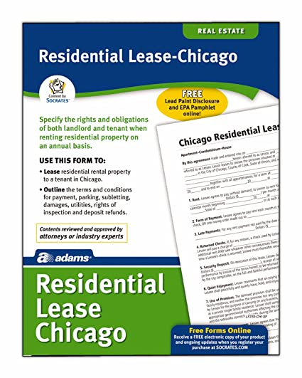 Amazoncom Adams Residential LeaseChicago Forms And Instructions - Socrates legal forms