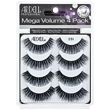 ed11ab113d5 ARDELL Mega Volume 251 Eye Lashes, Pack of 4: Amazon.co.uk: Beauty