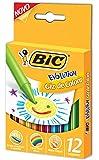 Giz de Colorir Evolution, BIC, 930216, Multicor, pacote de 12
