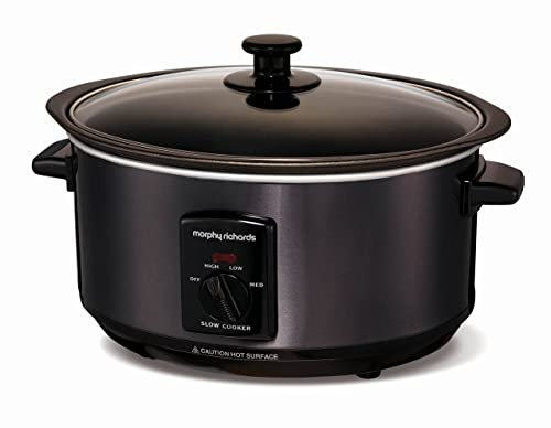 Morphy Richards Accents 48703 Sear and Stew Slow Cooker, 3.5 L - Black
