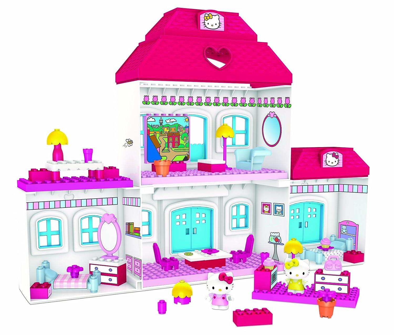 new mega bloks hello kitty 10822 dream house 10859 pink. Black Bedroom Furniture Sets. Home Design Ideas
