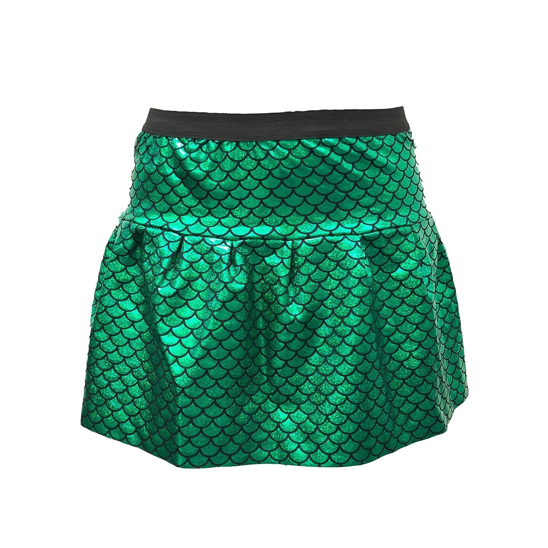 ROCK Green Mermaid Skirt with Hologram Scales| Mermaid Running Skirt | Mermaid Costume